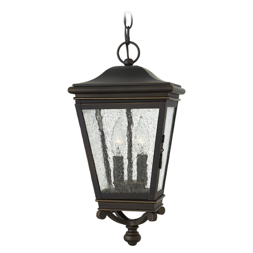Hinkley Seeded Glass Outdoor Hanging Light Oil Rubbed Bronze Hinkley 2462OZ