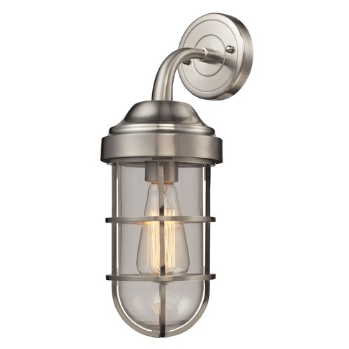 Elk Lighting Elk Lighting Seaport Satin Nickel Sconce 66355/1