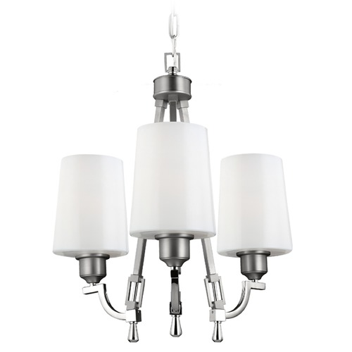 Feiss Lighting Feiss Lighting Preakness Satin Nickel / Polished Nickel Mini-Chandelier F3007/3SN/PN
