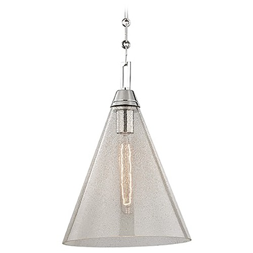 Hudson Valley Lighting Newbury 1 Light Pendant Light - Polished Nickel 6011-PN