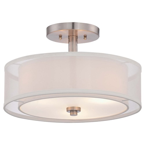 Minka Lavery Minka Parsons Studio Brushed Nickel Semi-Flushmount Light 4107-84