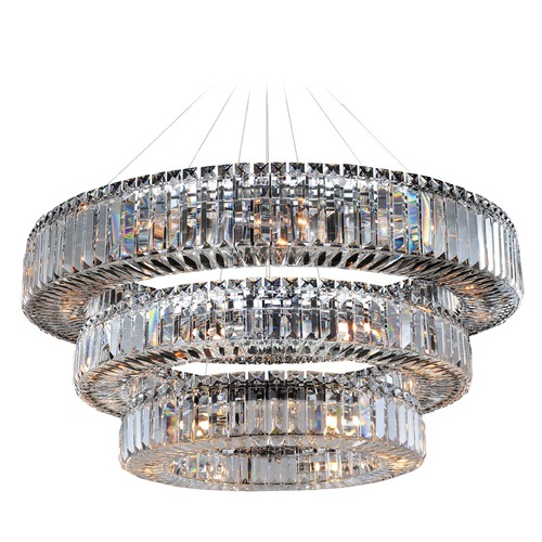 Allegri Lighting Rondelle 47in Round Pendant / 3 Tier 11770-010-FR001