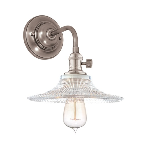 Hudson Valley Lighting Hudson Valley Lighting Heirloom Historic Nickel Sconce 8000-HN-GS6