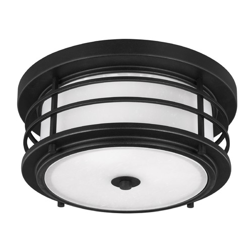 Sea Gull Lighting Sea Gull Sauganash Black Close To Ceiling Light 7824452-12