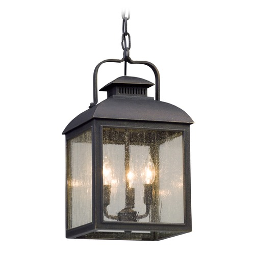 Troy Lighting Troy Lighting Chamberlain Vintage Bronze LED Outdoor Hanging Light FL5087