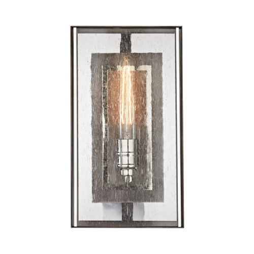 Elk Lighting Elk Lighting Ridgeview Weathered Zinc, Polished Nickel Sconce 31960/1