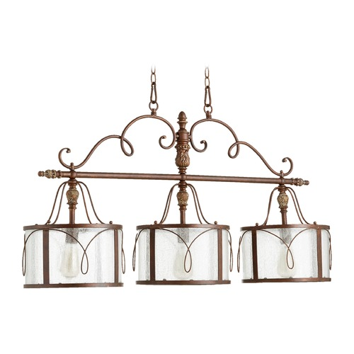 Quorum Lighting Quorum Lighting Salento Vintage Copper Island Light with Drum Shade 6506-3-39