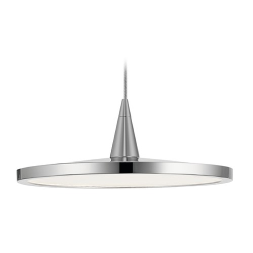 Elan Lighting Elan Lighting Jeno Chrome LED Mini-Pendant Light with Bowl / Dome Shade 83962