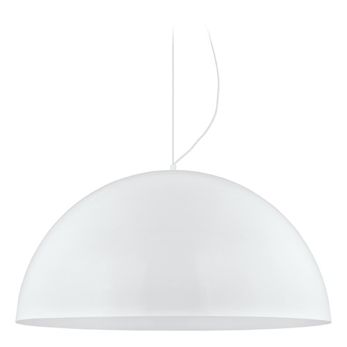 Eglo Lighting Eglo Gaetano Glossy White LED Pendant Light with Bowl / Dome Shade 200855A
