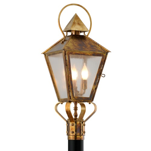 Troy Lighting Troy Lighting Allston Historic Brass Post Light P6585HBZ