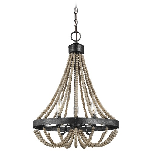 Sea Gull Lighting Sea Gull Lighting Oglesby Washed Pine / Stardust Mini-Chandelier 3101903-872