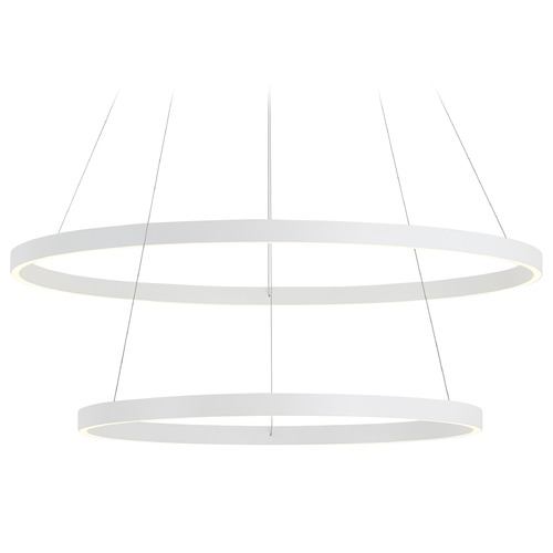 Kuzco Lighting Kuzco Lighting Cerchio White LED Chandelier CH86232-WH