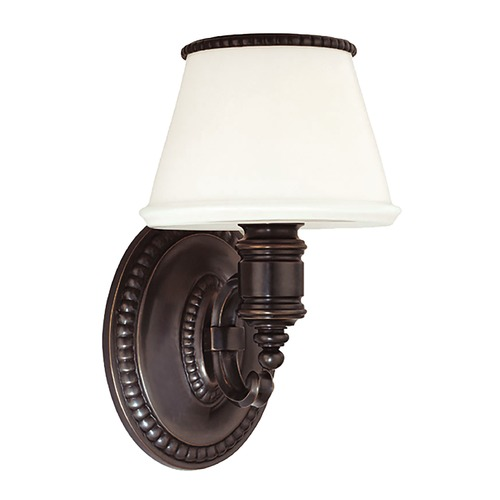 Hudson Valley Lighting Sconce with White Glass in Old Bronze Finish 4941-OB