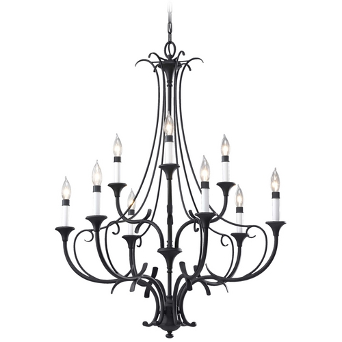 Home Solutions by Feiss Lighting Chandelier in Black Finish F2534/6+3BK