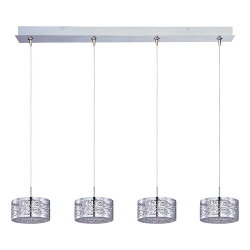 ET2 Lighting Inca Polished Chrome Multi-Light Pendant with Drum Shade E94945-10PC