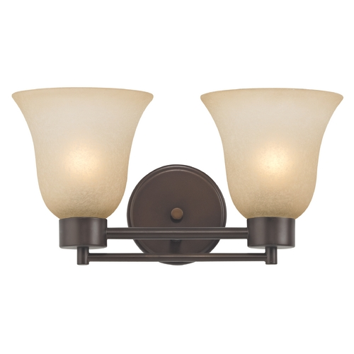 Design Classics Lighting Modern Bathroom Light with Brown Art Glass in Neuvelle Bronze Finish 702-220 GL9222-CAR