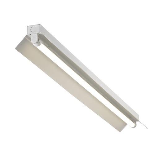 Recesso Lighting by Dolan Designs White Shop Light with One Light - 48-Inches Long SHOPLIGHT-48-1LT