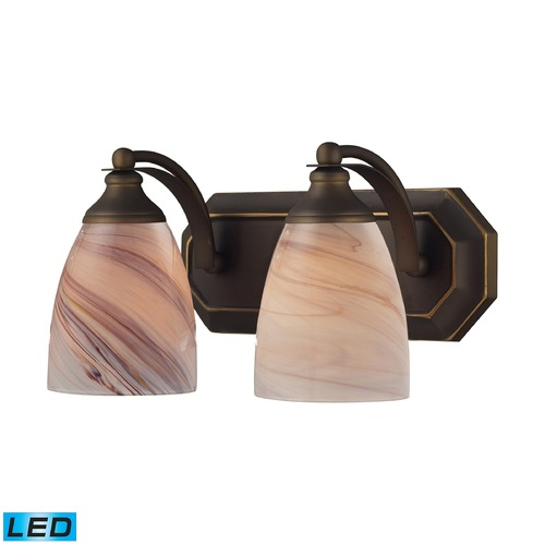 Elk Lighting Elk Lighting Bath and Spa Aged Bronze LED Bathroom Light 570-2B-CR-LED