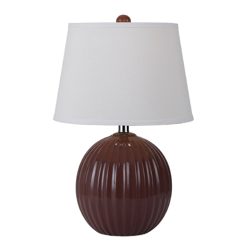 AF Lighting Table Lamp with White Shade in Red Finish 8567-TL
