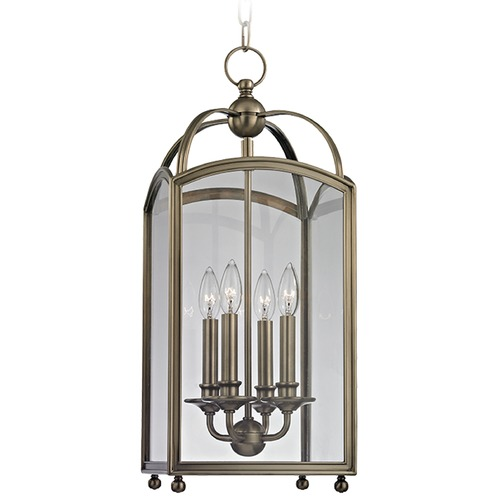 Hudson Valley Lighting Millbrook 4 Light Mini-Pendant Light Square Shade - Historic Nickel 8410-HN