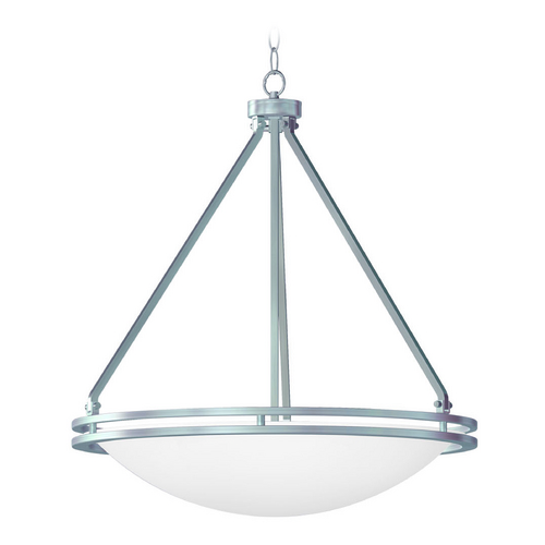 Access Lighting Access Lighting Aztec Brushed Steel Pendant Light 20462GU-BS/WHT