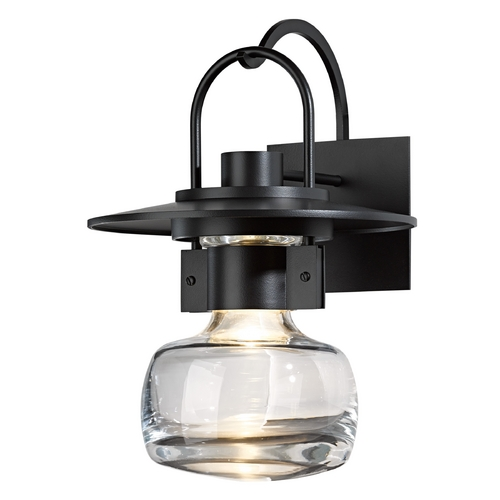 Hubbardton Forge Lighting Hubbardton Forge Lighting Mason Black Outdoor Wall Light 303005-10-ZM447