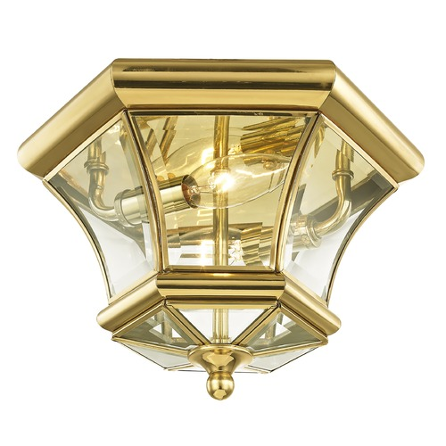 Livex Lighting Livex Lighting Monterey/georgetown Polished Brass Flushmount Light 7052-02