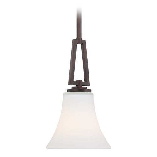 Minka Lavery Middlebrrok Vintage Bronze Mini-Pendant Light with Bell Shade 4931-284