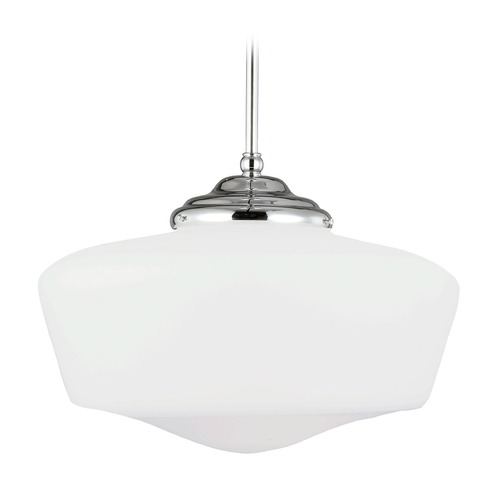 Sea Gull Lighting Schoolhouse LED Pendant Light Chrome Academy by Sea Gull Lighting 6543991S-05