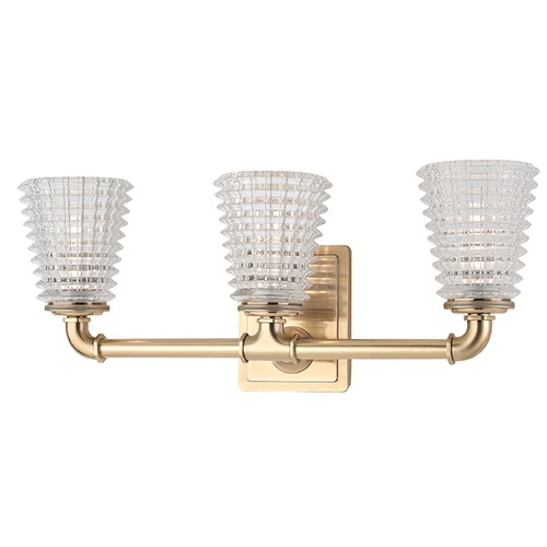 Hudson Valley Lighting Westbrook 3 Light Bathroom Light - Aged Brass 6223-AGB