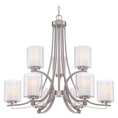Minka Lavery Minka Parsons Studio Brushed Nickel Chandelier 4109-84