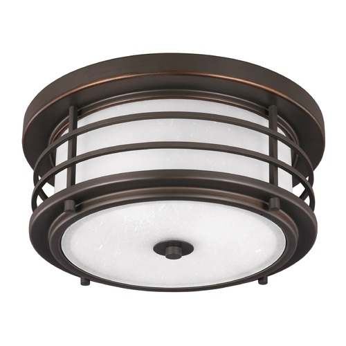 Sea Gull Lighting Sea Gull Sauganash Antique Bronze Close To Ceiling Light 7824452-71
