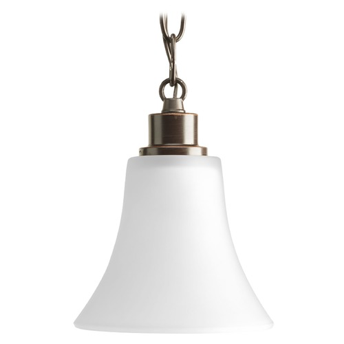 Progress Lighting Progress Lighting Joy Antique Bronze Mini-Pendant Light with Bell Shade P5270-20W