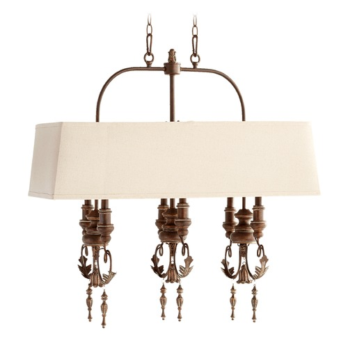 Quorum Lighting Quorum Lighting Salento Vintage Copper Island Light with Drum Shade 6506-6-39