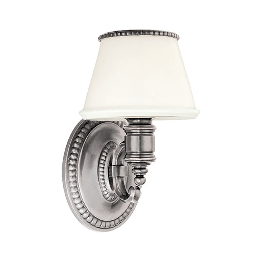 Hudson Valley Lighting Sconce with White Glass in Polished Nickel Finish 4941-PN