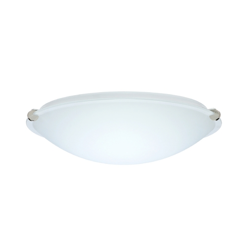Besa Lighting Flushmount Light with White Glass in Polished Nickel Finish 968107-PN