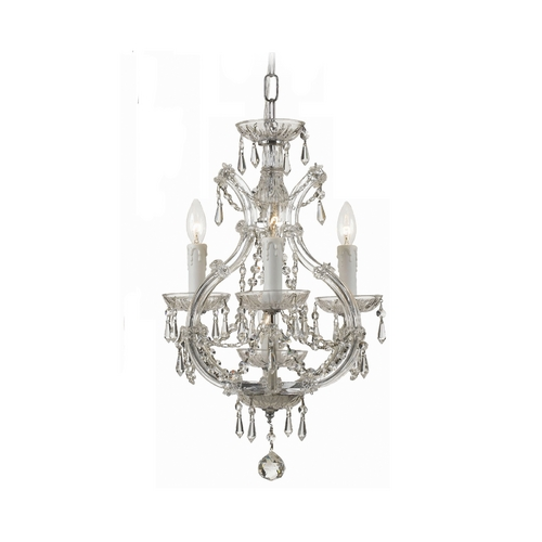 Crystorama Lighting Crystal Mini-Chandelier in Polished Chrome Finish 4473-CH-CL-MWP