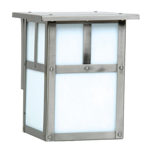 Craftmade Lighting Mission Style Outdoor Wall Light with Frosted White Glass Z1842-56