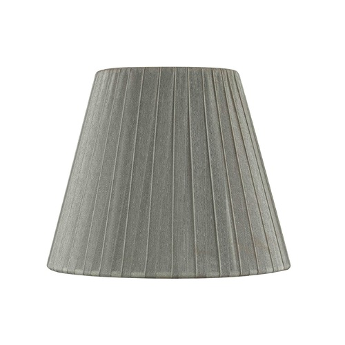 Design Classics Lighting Clip-On Empire Pleated Opaque Pewter Lamp Shade SH9625