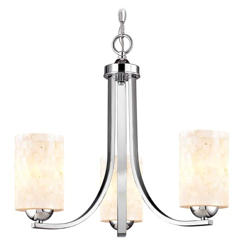 Design Classics Lighting Design Classics Dalton Fuse Chrome Mini-Chandelier 5843-26 GL1026C