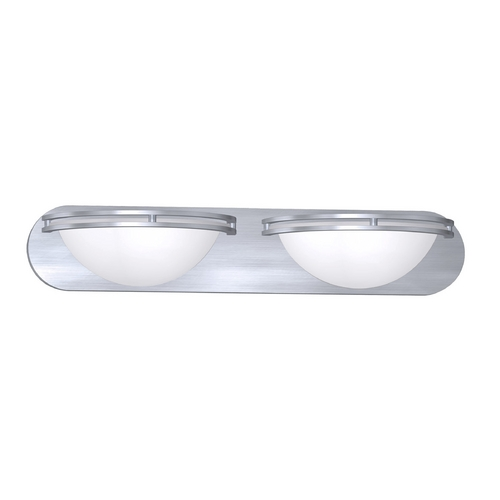 Access Lighting Access Lighting Aztec Brushed Steel Bathroom Light 20452GU-BS/WHT