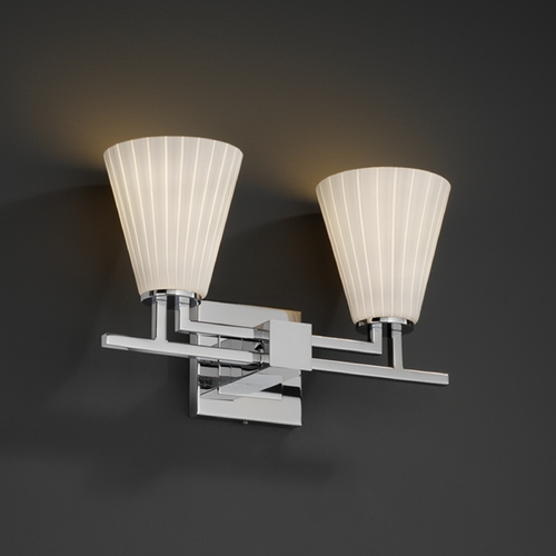 Justice Design Group Justice Design Group Fusion Collection Bathroom Light FSN-8702-50-RBON-CROM