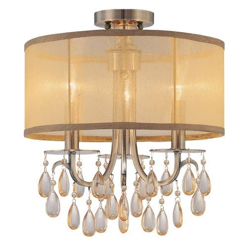 Crystorama Lighting Crystorama Lighting Hampton Antique Brass Semi-Flushmount Light 5623-AB_CEILING