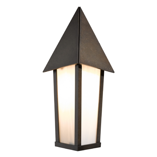 Hubbardton Forge Lighting Hubbardton Forge Lighting Elton Bronze Outdoor Wall Light 303050-05-G453