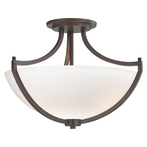 Minka Lavery Minka Lighting Middlebrook Vintage Bronze Semi-Flushmount Light 4932-284