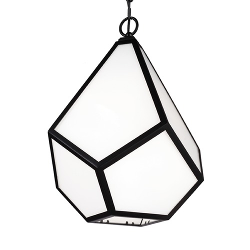 Feiss Lighting Feiss Diamond Black Pendant Light P1375BK