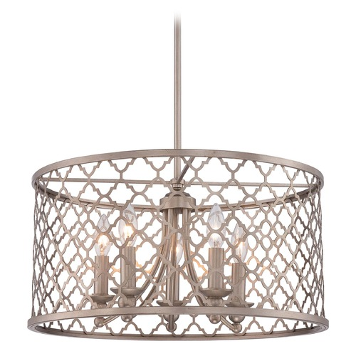Minka Lavery Minka Champagne Gold Pendant Light with Drum Shade 4165-584