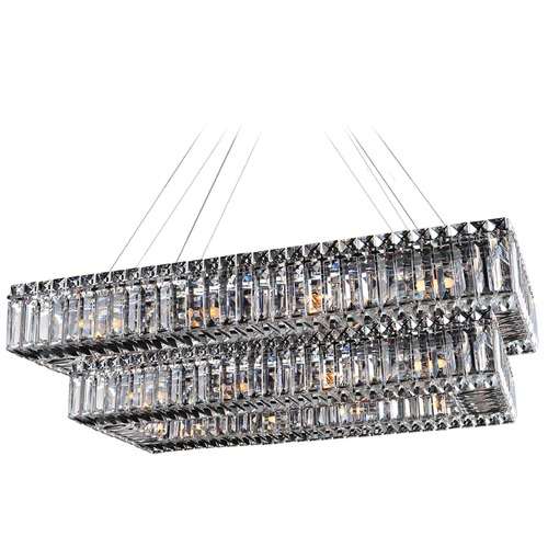 Allegri Lighting Bagguette 43in x 27in Rectangular 2 Tier Pendant 11778-010-FR001