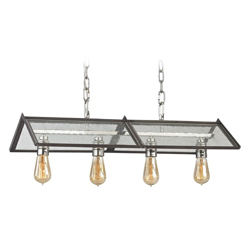Elk Lighting Elk Lighting Ridgeview Weathered Zinc, Polished Nickel Island Light 31962/4