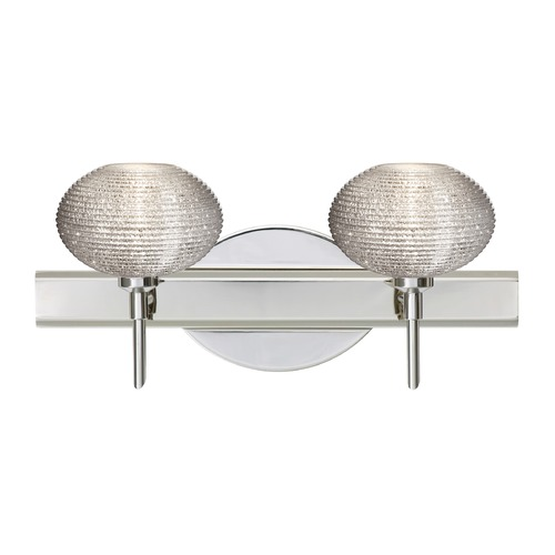 Besa Lighting Besa Lighting Lasso Ribbed Glass Chrome LED Bathroom Light 2SW-5612GL-LED-CR